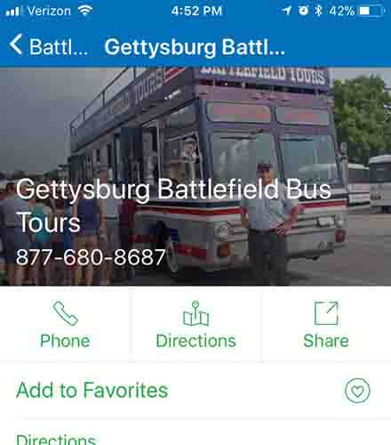 My Gettyburg App