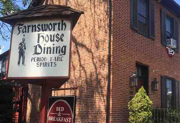 Farnsworth House Inn Restaurant and Sweney's Tavern in Gettysburg, PA