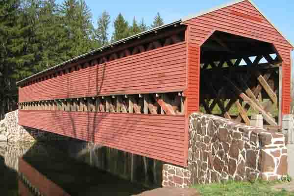 Sach's Covered Bridge in Gettysburg, PA